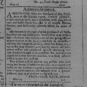 """Advertisement,"" The Pennsylvania Gazette, Philadelphia, Pennsylvania, May 24, 1796"